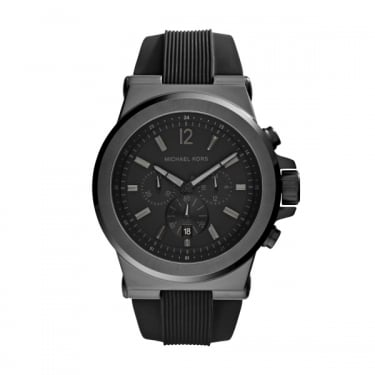 Michael Kors Gents Dylan Black Silicone Strap Watch