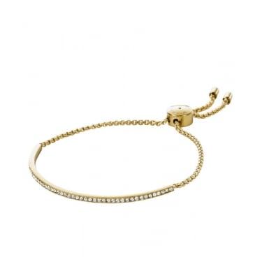 d97d26263be96 Michael Kors Gold Tone Clear Pave Bar Slider Bracelet