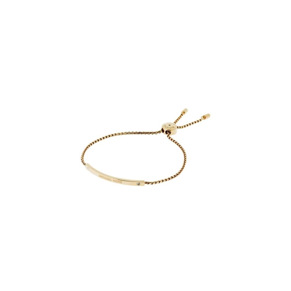 9b2e32c91315 Michael Kors Gold Tone Logo Bar Toggle Bracelet - Jewellery from ...