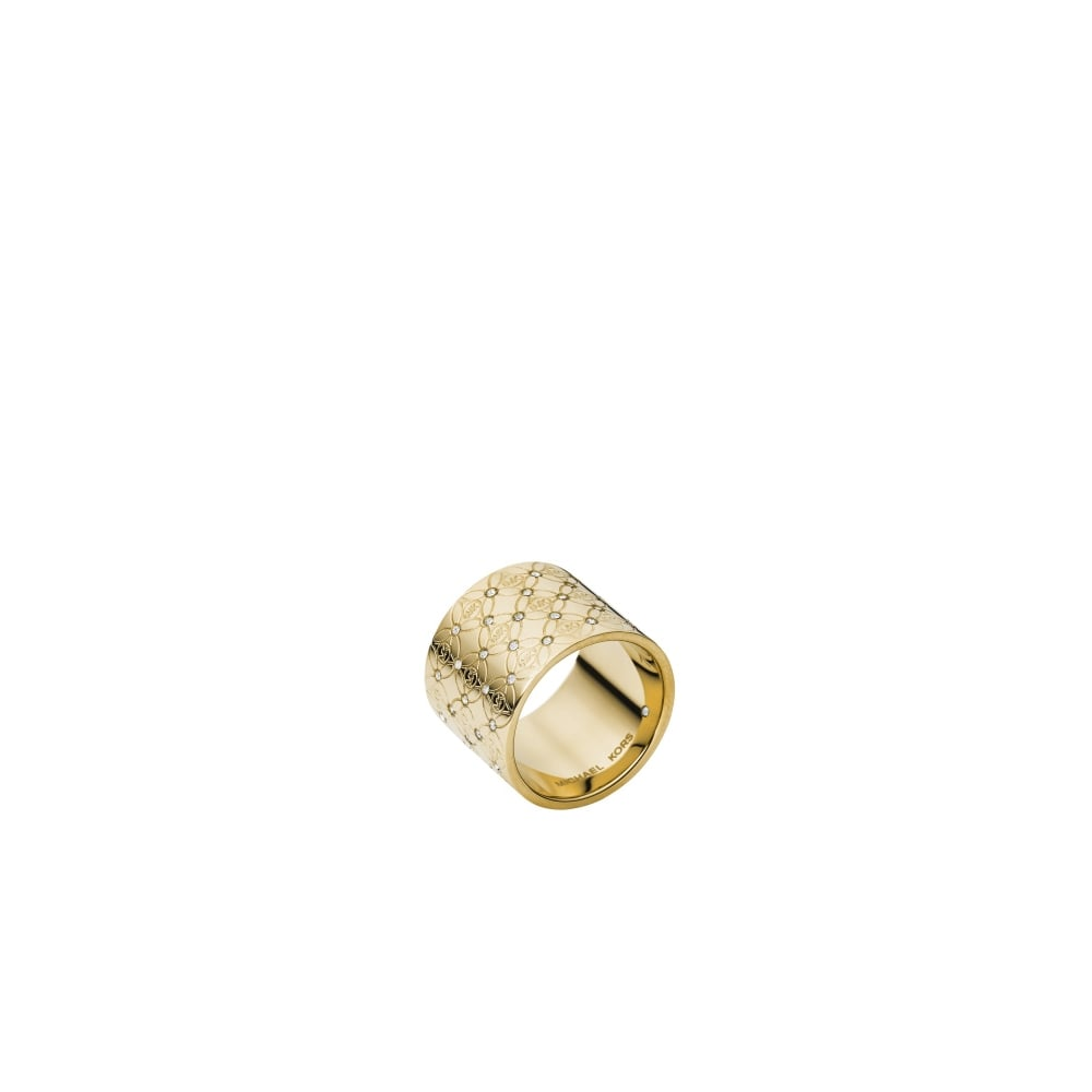 5cf4c2802f2ab Michael Kors Heritage Monogram Gold Tone Ring - Jewellery from Faith ...