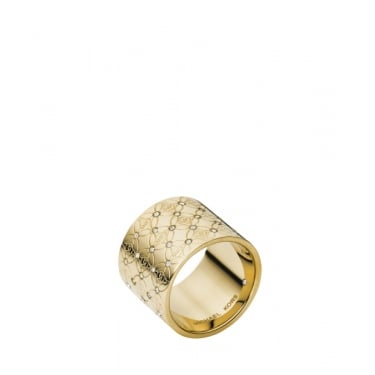 Michael Kors Heritage Monogram Gold Tone Ring