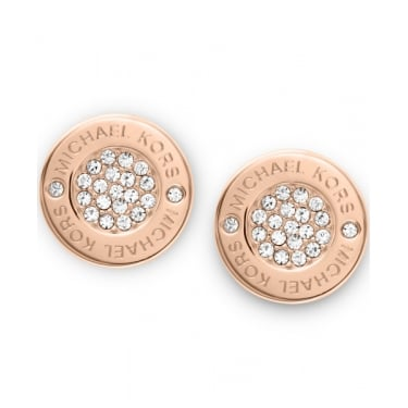 Michael Kors Heritage Rose Gold Pave Set Earring
