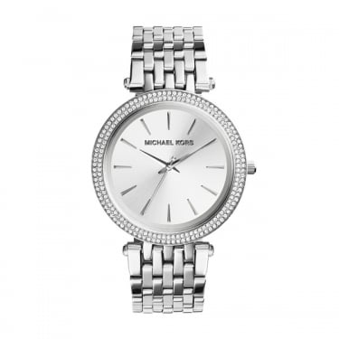 Michael Kors Ladies Pippa Silver Ladies Watch