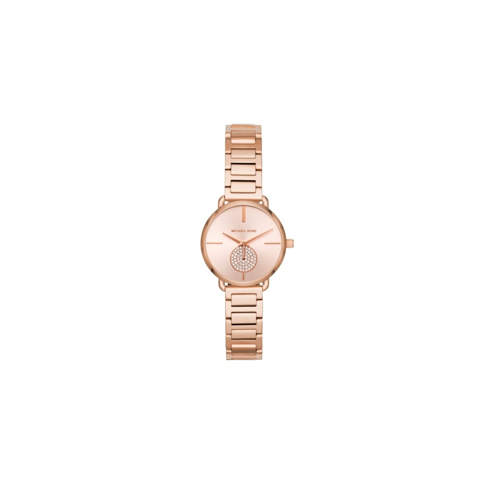 Michael Kors Ladies Portia Rose Gold Watch - Watches from Faith ... 553d878c017c