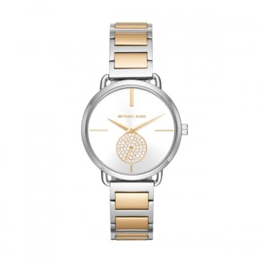 Michael Kors Ladies Silver and Yellow Gold Portia Watch