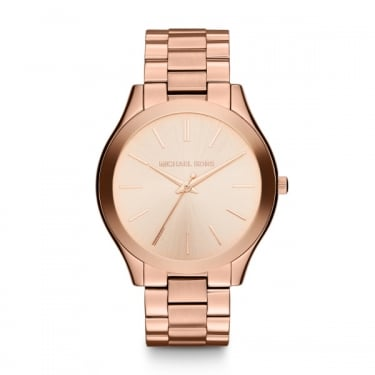 Michael Kors Ladies Slim Runway Rose Gold Watch