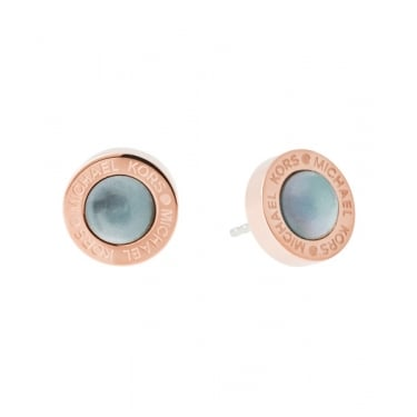 Michael Kors Logo Rose Gold Earrings