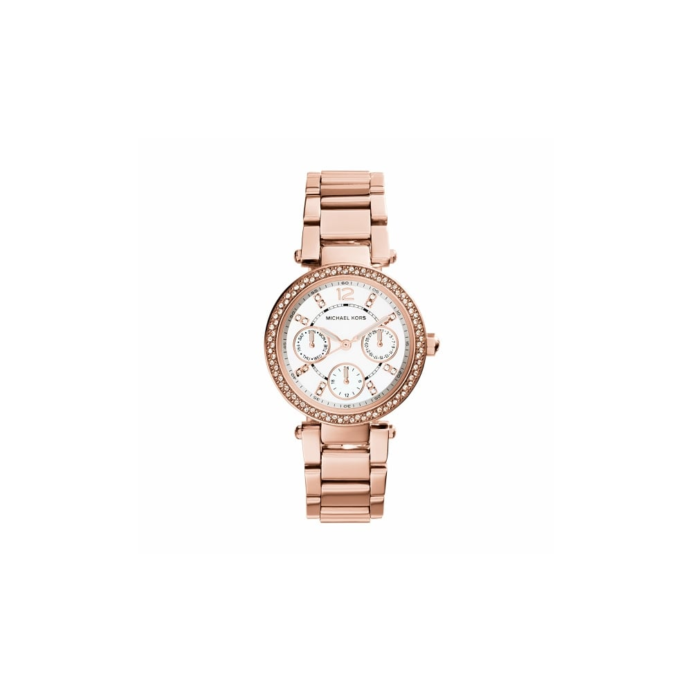 michael kors mini parker rose gold ladies watch watches from faith jewellers uk. Black Bedroom Furniture Sets. Home Design Ideas