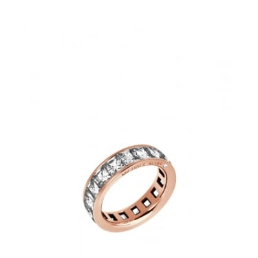 Michael Kors Park Avenue Rose Gold Tone Barrel Ring