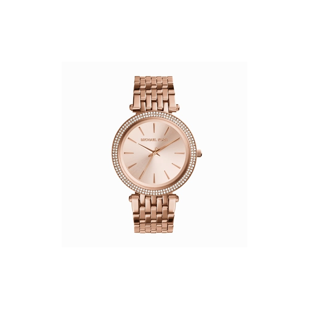 25d8a585d8 Michael Kors Pippa Rose Gold Tone Crystal Ladies Watch - Watches ...