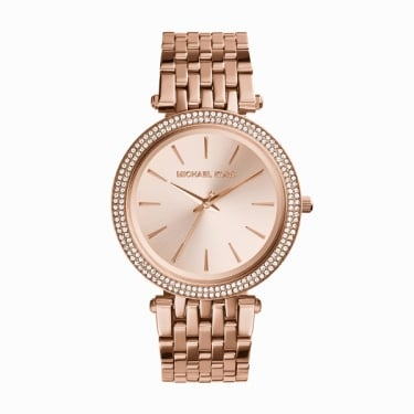 Michael Kors Pippa Rose Gold Tone Crystal Ladies Watch