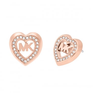 Michael Kors Rose Gold Fashion Heart Earrings
