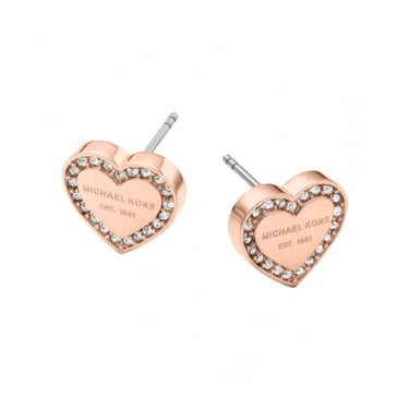 Michael Kors Rose Gold Heritage Earrings
