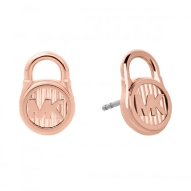 Michael Kors Rose Gold Lock Autumn Earrings