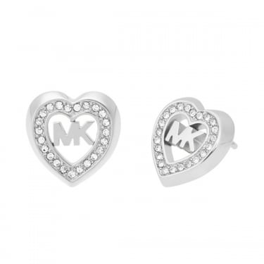 Michael Kors Silver Fashion Heart Earrings