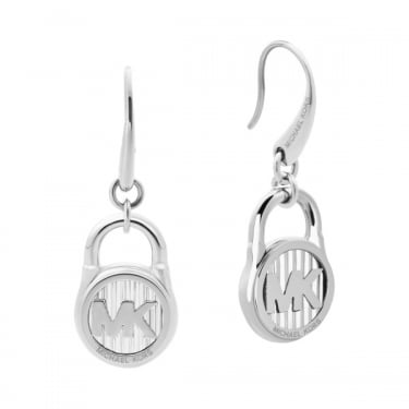 Michael Kors Silver Ladies Drop Earrings