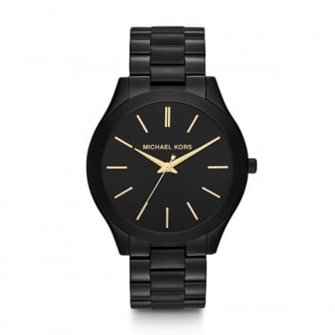 Michael Kors Unisex Slim Runway Black Watch