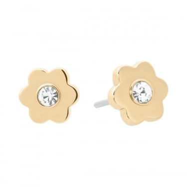 Michael Kors Yellow Gold Flower Earrings