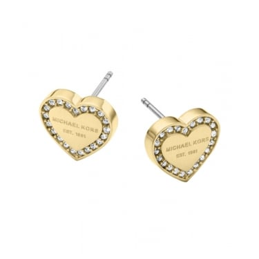 Michael Kors Yellow Gold Heritage Earrings