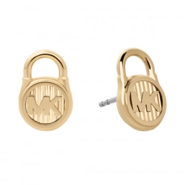 Michael Kors Yellow Gold Lock Autumn Earrings