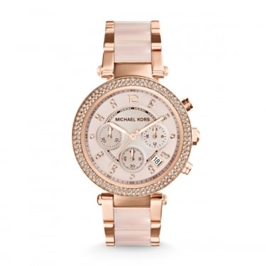 Micheal Kors Parker Rose Gold and Rose Quartz Watch