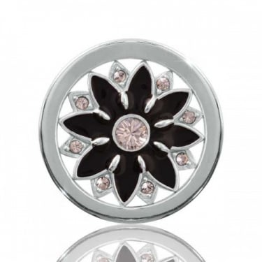 Nikki Lissoni Coin Midnight Flower Silver Small