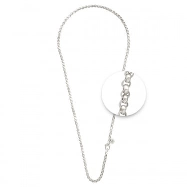 Nikki Lissoni Fine Silver Plated Necklace 60cm