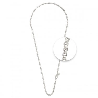 Nikki Lissoni Fine Silver Plated Necklace 80cm