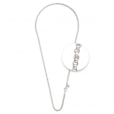 Nikki Lissoni Fine Silver Plated Necklace 90cm