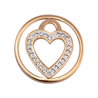 Nikki Lissoni Heart 'Love Keeper' Yellow Gold Small Coin