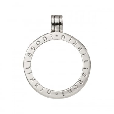 Nikki Lissoni Pendant Silver Plated 25mm