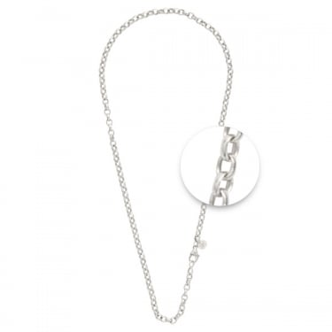 Nikki Lissoni Silver Plated Rolo Necklace 45cm