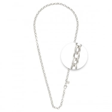 Nikki Lissoni Silver Plated Rolo Necklace 48cm