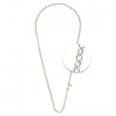 Nikki Lissoni Silver Plated Rolo Necklace 60cm