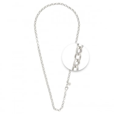 Nikki Lissoni Silver Plated Rolo Necklace 80cm