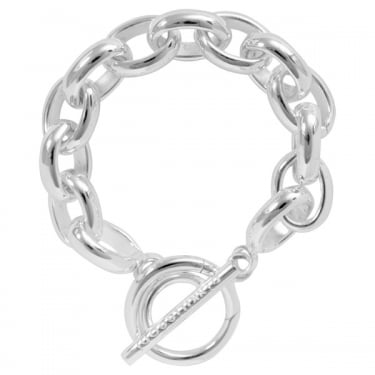 Nikki Lissoni Silver With T-Bar Closure Bracelet