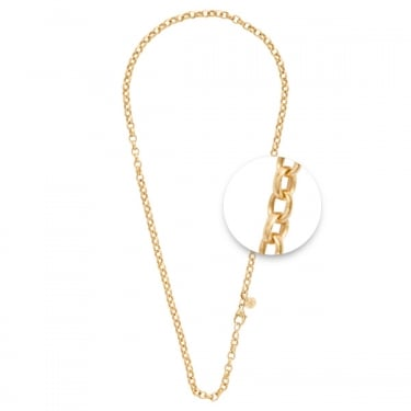 Nikki Lissoni Thick Gold Plated Rolo Necklace 45cm