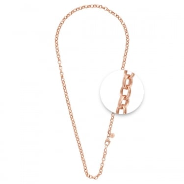 Nikki Lissoni Thick Rose Gold Rolo Necklace 45cm