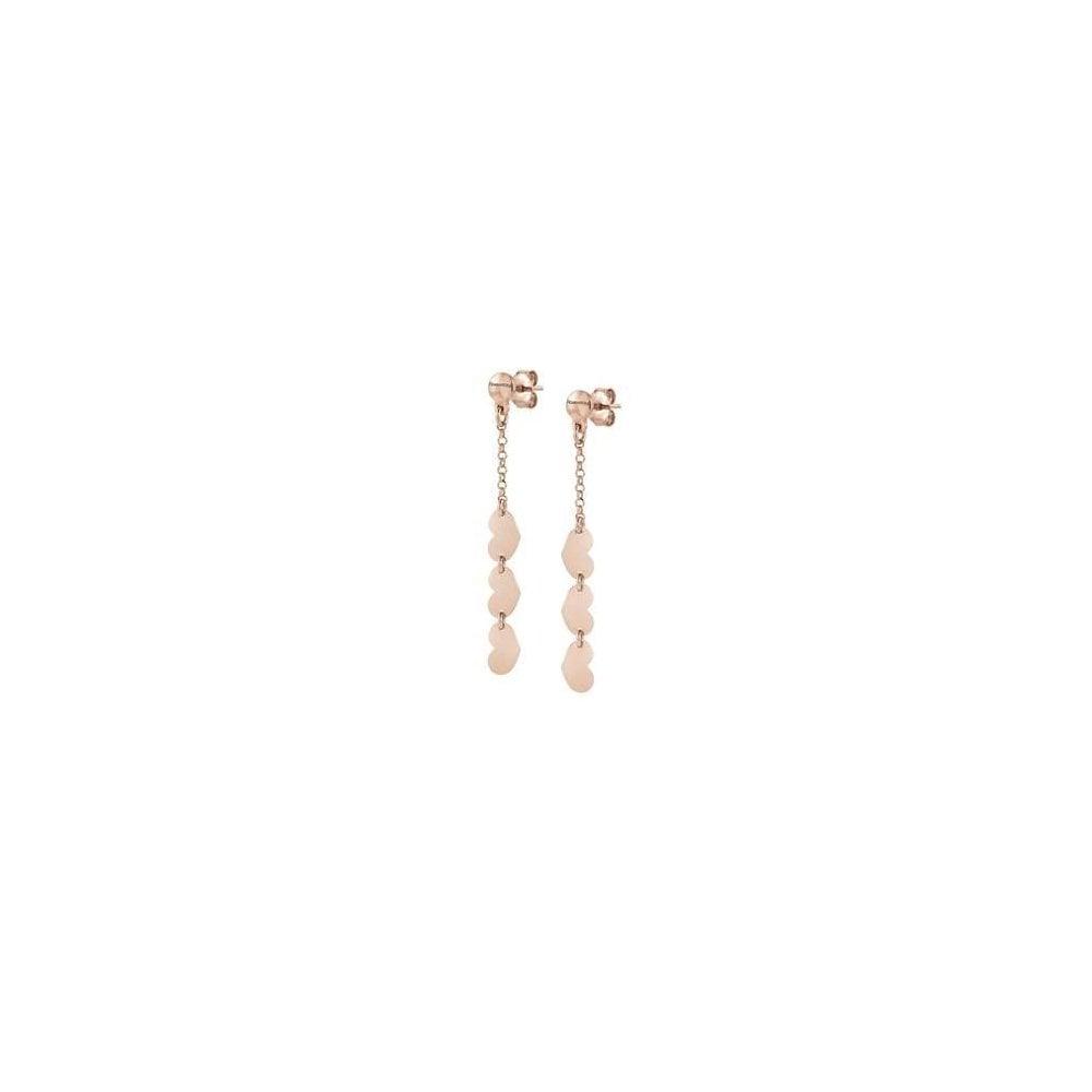c9329594b Nomination Armonie Rose Gold Tone Heart Drop Earrings - Jewellery ...