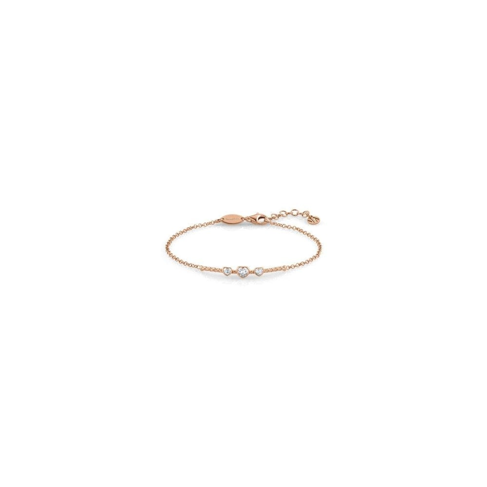 33cc5650547b7 Nomination Bella Ladies Rose Gold CZ Heart Bracelet - Jewellery from ...