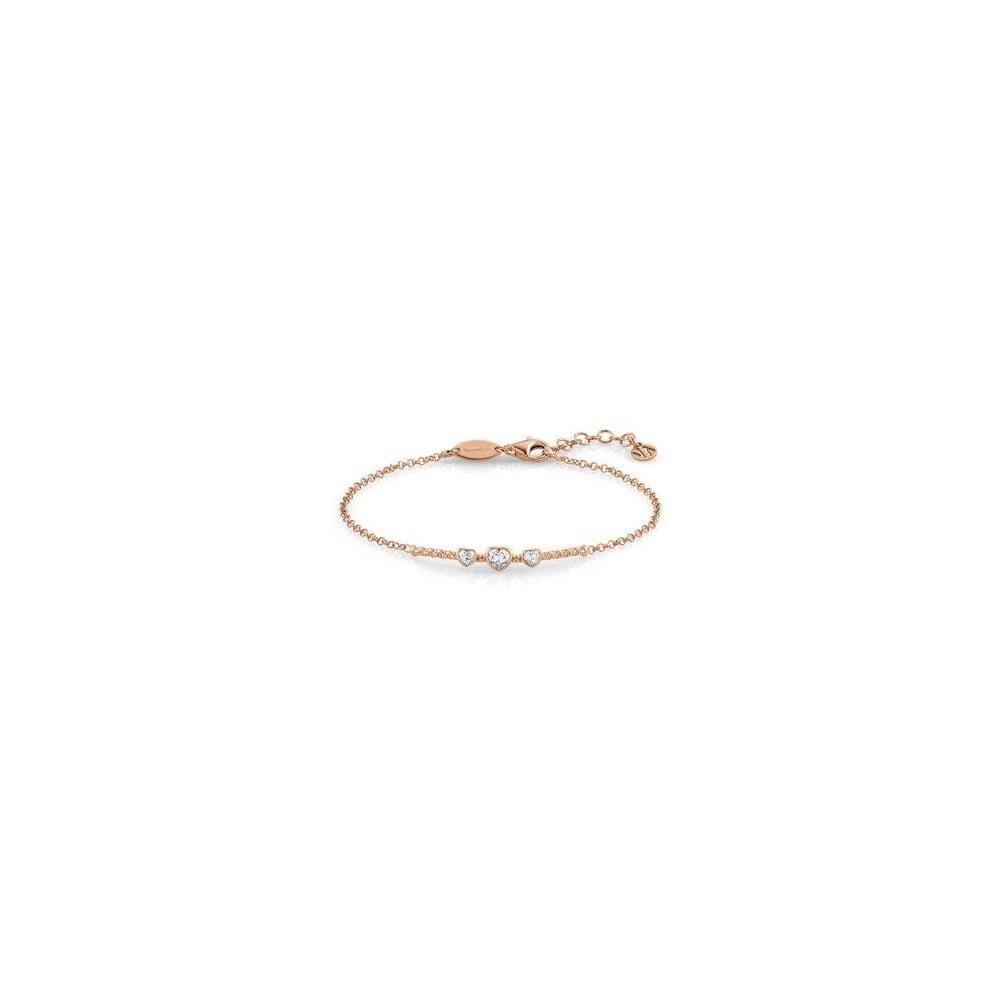 Nomination Bella Ladies Rose Gold CZ Heart Bracelet - Jewellery from ... 305e49122edc