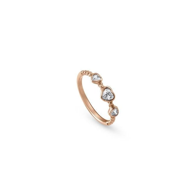 7ca145459f Nomination Bella Ladies Rose Gold CZ Heart Ring Size 6