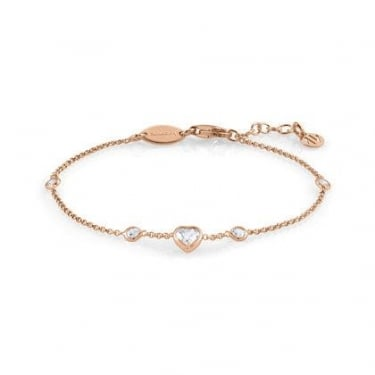 Nomination Bella Sterling Silver CZ & Gold Pink Heart Bracelet