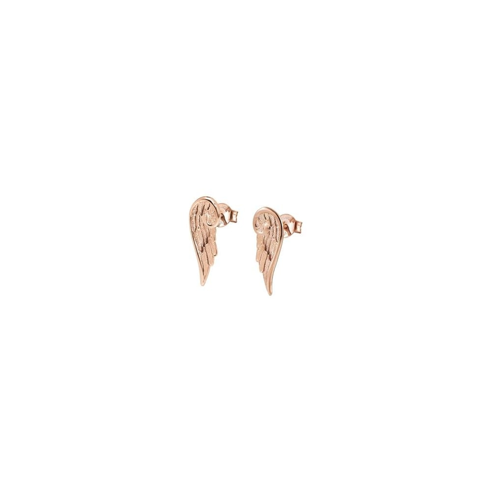 6a6d9c4ee1b78 Nomination Nomination Ladies Rose Gold Angel Wing Earrings