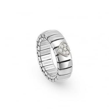 Nomination Ladies Sterling Silver CZ Heart Ring