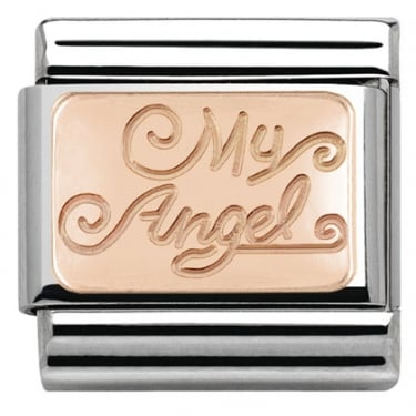 Nomination My Angel Rose Gold Set in Rectangle