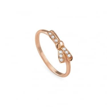 Nomination Mycherie Sterling Silver Rose Gold Bow Ring