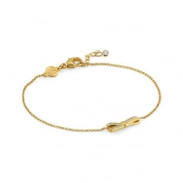 Nomination Mycherie Sterling Silver Yellow Gold Bow Bracelet