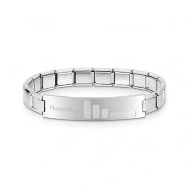 Nomination Trendsetter Small Bars Black Satin Finish Bracelet