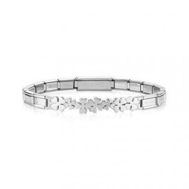 Nomination Trendsetter Stainless Steel Bracelet with Infinity Four Leaf Clover